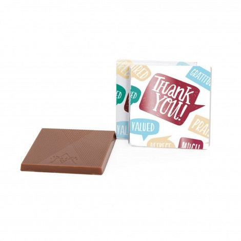 """""""Thank You"""" 1.75"""" Milk Chocolate Deluxe Thins"""