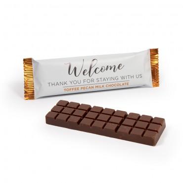Welcome 100 Calorie Toffee Pecan Milk Chocolate Bar