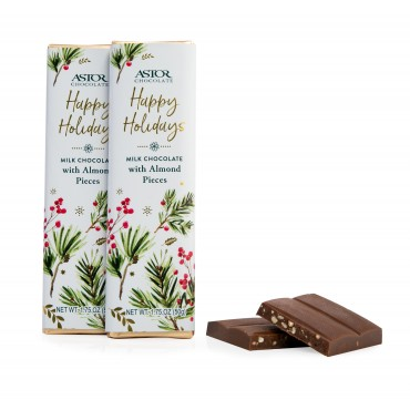 Holiday Almond Milk Chocolate Bars 1.75oz