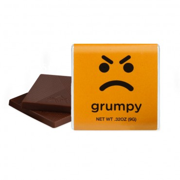 "GRUMPY - Dark Chocolate (1.75"")"