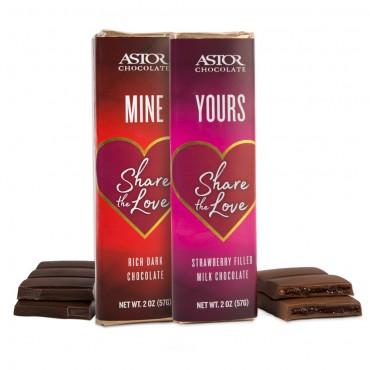 Valentines 2oz Chocolate Bars
