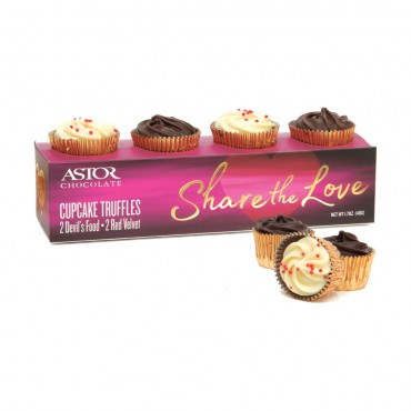 Valentines Cupcake Truffle Box