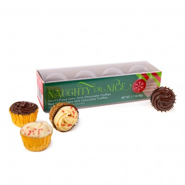 4pc Holiday Cupcake Truffle Box
