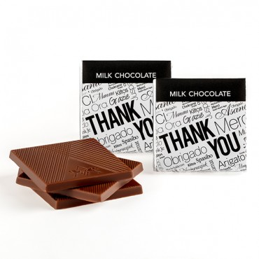 """Thank You"" Deluxe Chocolate Thins Jr Case"