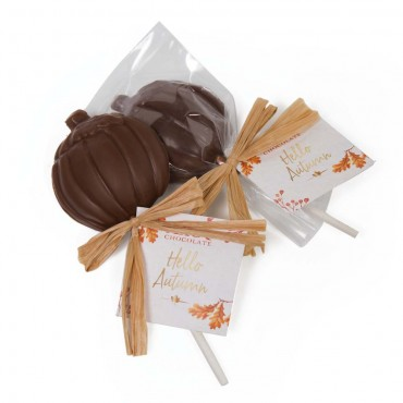 Chocolate Pumpkin Lollipop