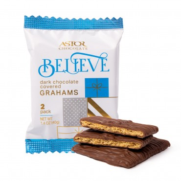 Holiday Dark Chocolate Covered Grahams - 2pc