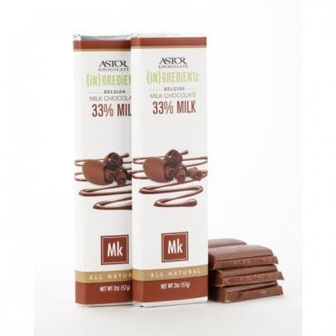 33% Milk Chocolate Bar - Ingredients by Astor