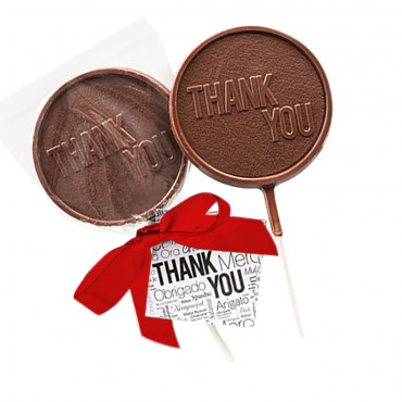 """Thank You"" Chocolate Lollipops"