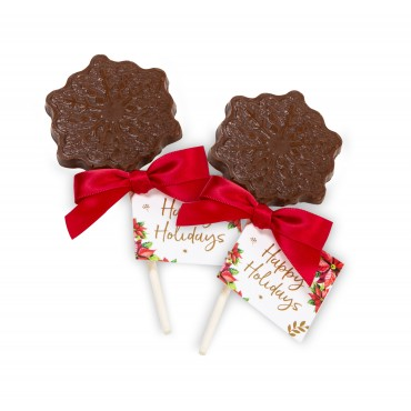 Milk Chocolate Snowflake Lollipop