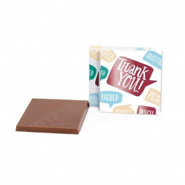 """Thank You"" 1.75"" Milk Chocolate Deluxe Thins"