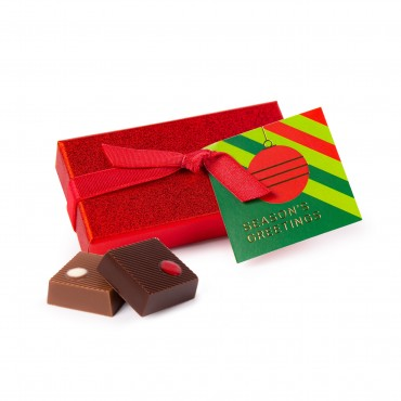 2pc Red Sparkle Truffle Gift Box