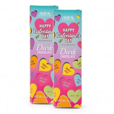 Valentine's Day Belgian Chocolate Bars Solid Dark Chocolate