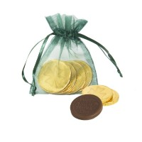 St. Patrick's Day Lucky Coins in Chiffon Pouch (Green)